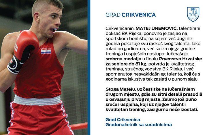 Čestitka Mateju Uremoviću