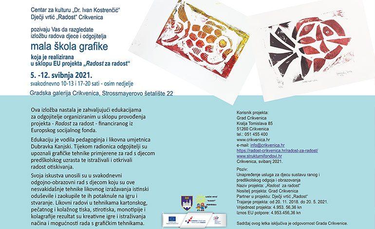 Izložba: Mala škola grafike – u Gradskoj galeriji Crikvenica