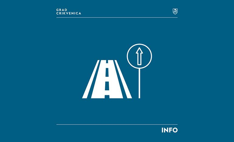 Obavijest o uvođenju ljetne regulacije prometa na području Grada Crikvenice u 2021. godini