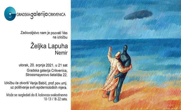 Željko Lapuh u Gradskoj galeriji Crikvenica – utorak, 20. 7. u 21 sat