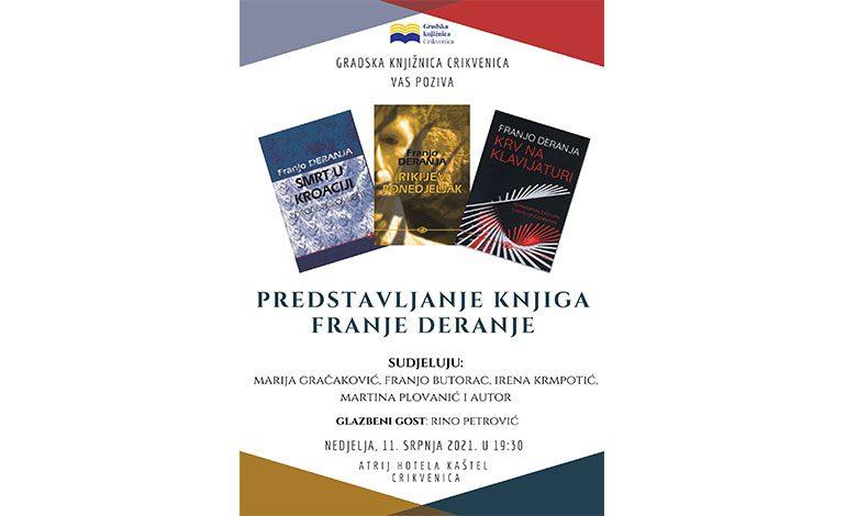 Predstavljanje triju novih knjiga Franje Deranje