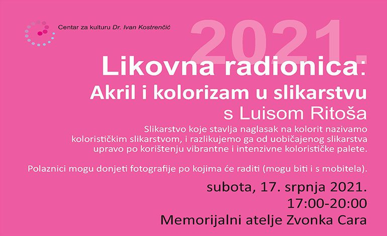 Sutra – radionica slikanja u Memorijalnom ateljeu Zvonka Cara