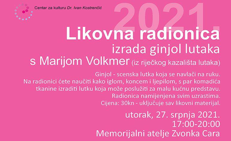Radionica ginjol lutaka u Memorijalnom ateljeu Zvonka Cara