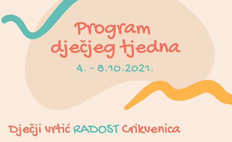 Program dječjeg tjedna 4. – 8.10.2021.
